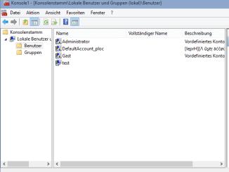 Vorhanden Benutzer am Windows System anzeigen