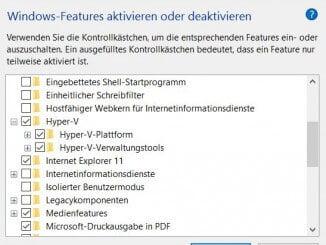 Hyper-V Installation in Windows 10