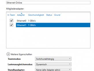Windows Server: Netzwerkadapter kombinieren: Adapter hinzufügen