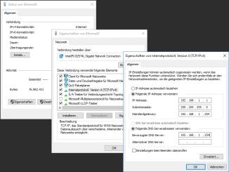 Netzwerkeinstellungen-in Windows vornehmen - Adresse statisch vergeben