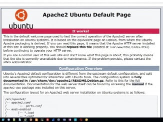 Linux Apache Webserver - Default Seite nach der Installation