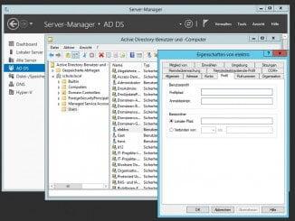 Angabe des Login Scripts auf dem Domänencontroller in der Active Directory Verwaltung