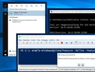 Hyper-V mit der cmd oder Windows PowerShell installieren