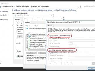 Automatische Vergabe der IPv6 Adresse am Windows Server