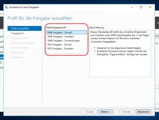 Dateifreigaben im Server 2016 per Server Manager erstellen (SMB)