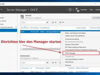 Windows Server 2016 DHCP Dienst installieren und konfigurieren