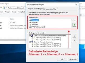 Windows 10 - Reihenfolge der Netzwerkadapter festlegen