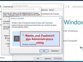 Windows 10 in die Domäne des Windows Server 2016 aufnehmen