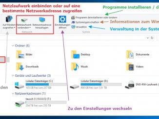 Mit dem Windows Explorer in Windows 10 administrative Aufgaben durchführen