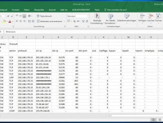 Windows 10 - Firewall Protokollierung mit Excel auswerten