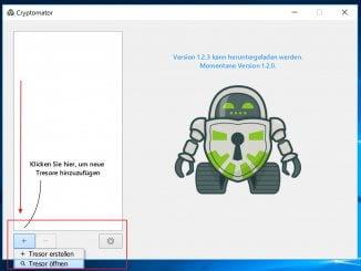 Daten unter Windows für die Cloud verschlüsseln: Tresor erstellen