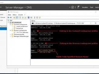Windows DNS-Server - Prüfen der Namensauflösung mit nslookup