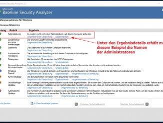 Den Windows PC mit dem Microsoft Baseline Security Analyzer prüfen: Ausführlicher Bericht