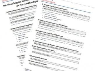 Cheat-Sheet PowerShell Befehle für die Netzwerkkonfiguration mit der PowerShell
