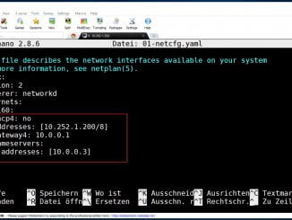 Im Linux Server 17.10 die Netzwerkschnittstelle konfigurieren: Mit netplan statische IP-Adresse konfigurieren