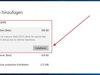 Neues Feature: OpenSSH-Client unter Windows 10 installieren