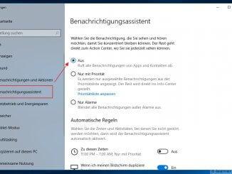 Der Windows Benachrichtigungsassistent - bestimmte Apps erlauben oder verbieten