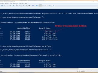 Mit der Windows PowerShell Dateien entpacken