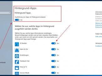 Keine Hintergrund-Apps im Windows 10 zulassen - So deaktiviert man die Apps
