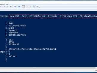 Neue virtuelle Festplatte mit der Windows PowerShell anlegen