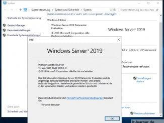 Installation Windows Server 2019