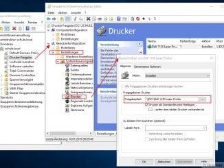 Mit dem Windows Server 2016 einen Drucker per Gruppenrichtlinien austeilen - Konfiguration der Gruppenrichtlinie