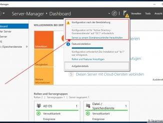 Den neuen Windows Server 2019 zu einem Domänencontroller hochstufen - Schritt 2