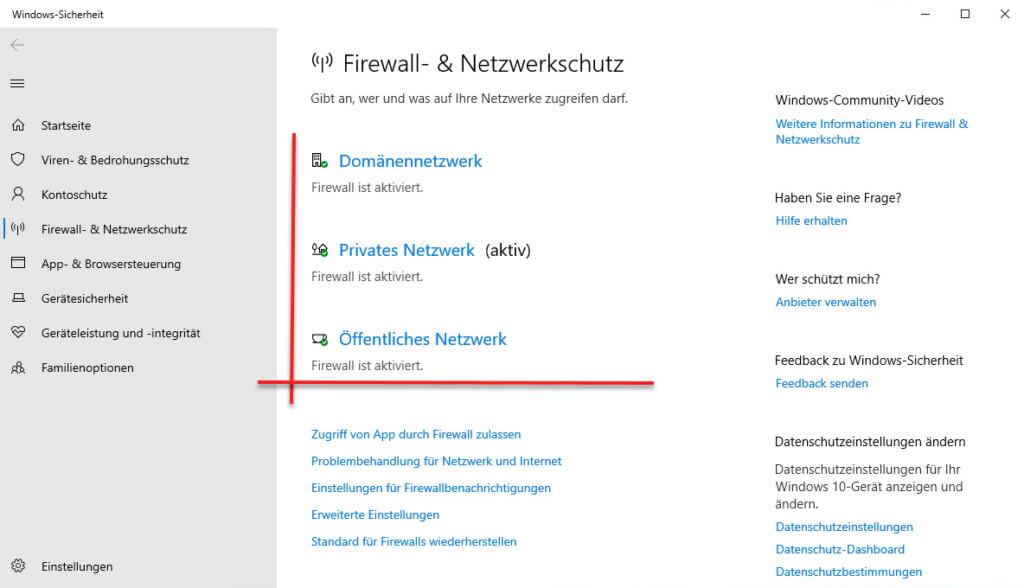 Die Verschiedenen Firewall Profile Unter Windows 10