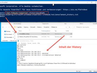 Die Windows Powershell History Aufrufen