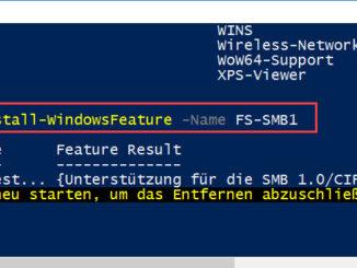 Windows Feature Mit Der PowerShell Deinstallieren