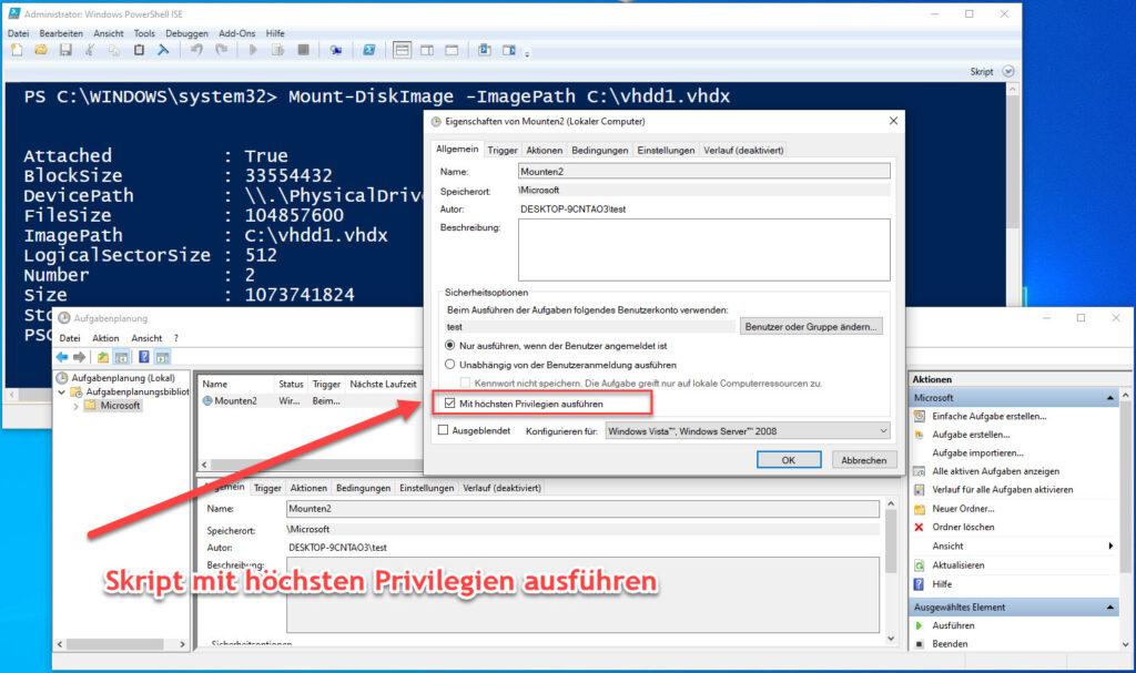 Mithilfe Der Windows PowerShell Eine Virtuelle Festplatte Mounten Privilegien Festlegen