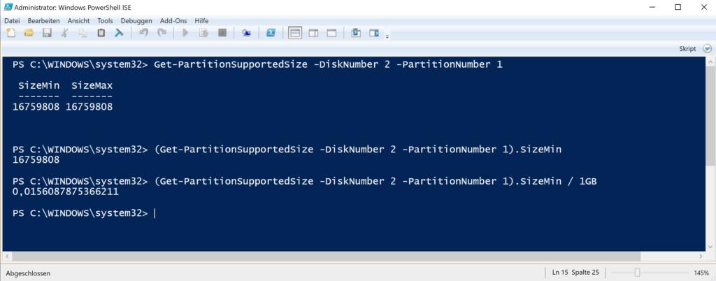 Mithilfe Der Windows Powershell Eine Festplatte Vergrößern Bzw. Verkleinern