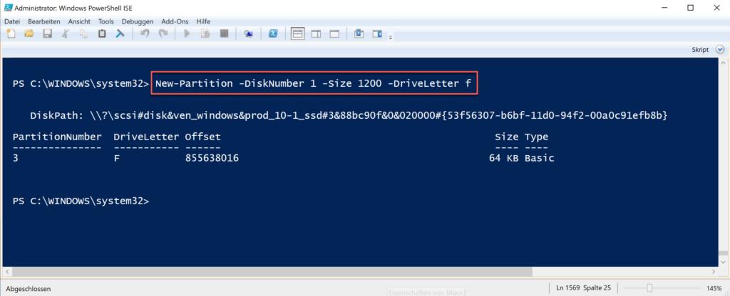 Mithilfe Der Windows Powershell Eine Partition Erstellen