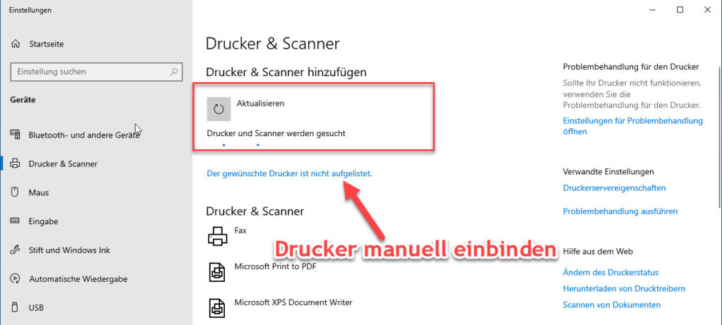 Unter Windows Einen Neuen Netzwerkdrucker Per IP Adresse Einbinden