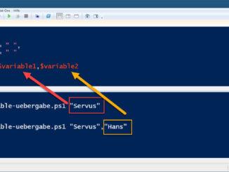 Windows PowerShell Skript Mit Parameter Aufrufen