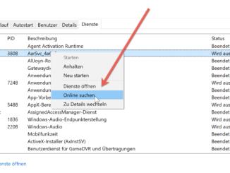 Unter Windows Die Eigenschaften Von Dienste Aufrufen