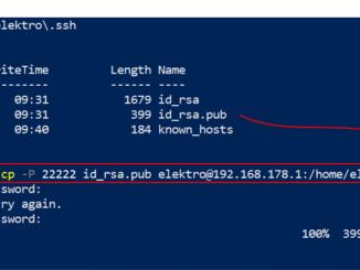 Von Windows 10 SSH Zugriff Ohne Passwort Abfrage Erzeugen Public Key Kopieren