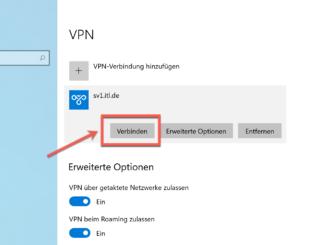 Windows 10 VPN Verknüpfung Erstellen