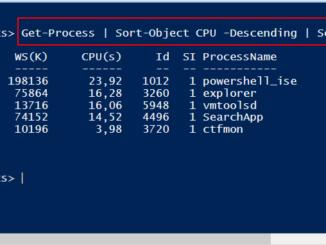 Windows PowerShell Top 5 Prozess Mit Dem Höchste CPU Verbrauch Ausgeben
