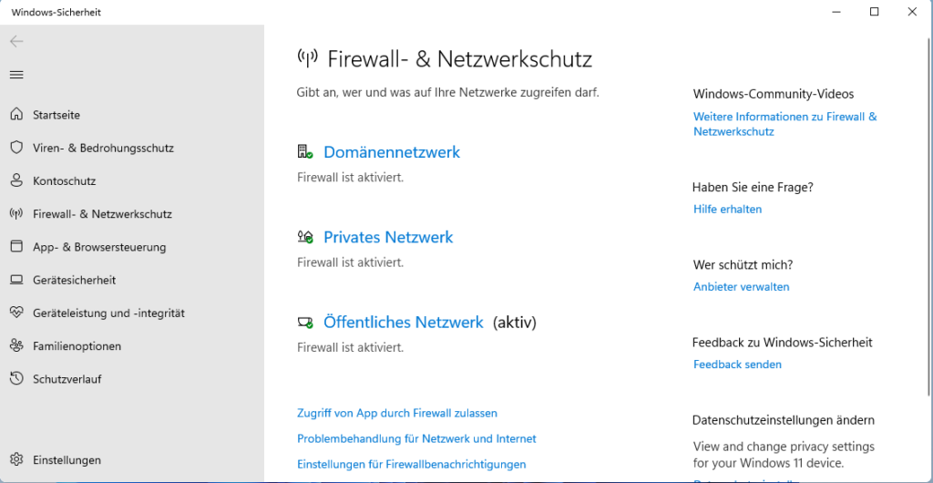 Unter Windows 11 Alle Netzwerkprofile Anzeigen