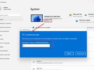 Windows 11 Computer Umbenennen