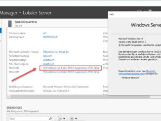 Windows Server 2022 Statische IPv4 Adresse Vergeben 1