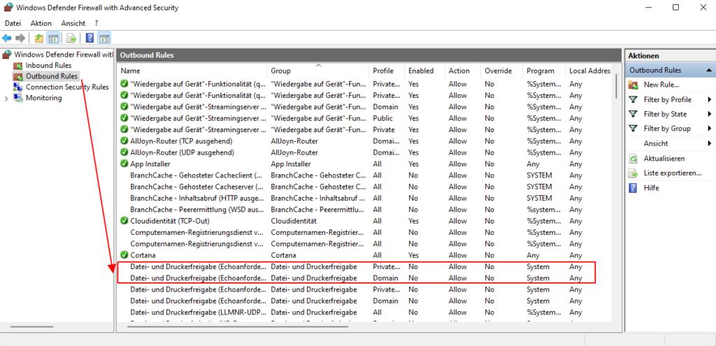 Windows 11 ICMP Für Das Anpingen Erlauben Ausgehende Regel