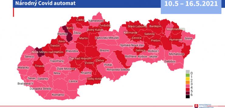 Hétfőtől a legtöbb járás, a Rozsnyói is rózsaszín besorolású lesz