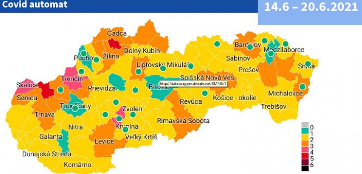 Június 14-től a járások többsége sárga besorolású lesz