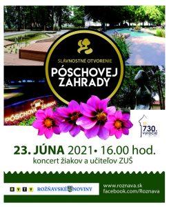 Koncerttel nyitják meg a felújított Pósch-kertet