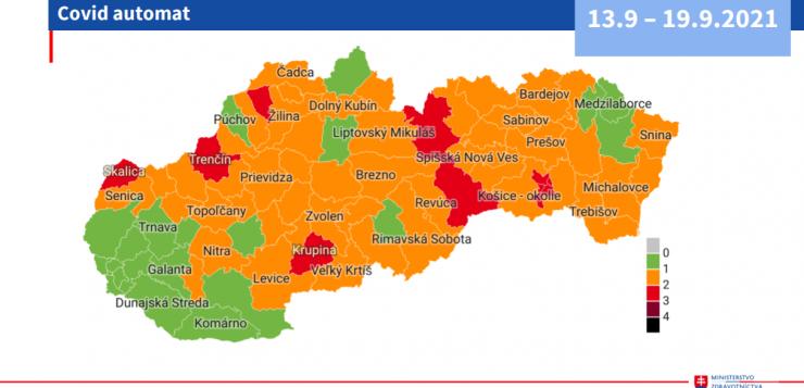 Szeptember 9-től piros fázisba kerül a Rozsnyói járás