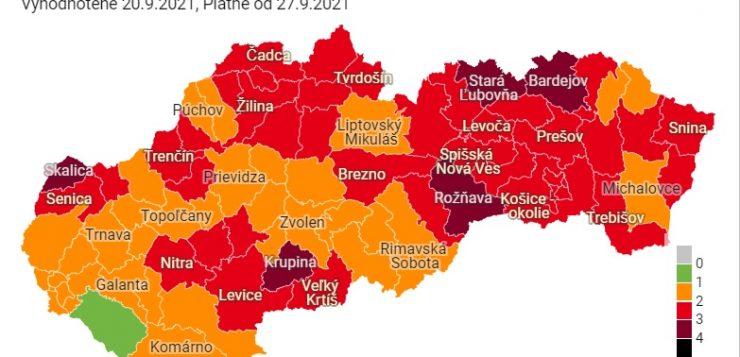 Szeptember 27-től már öt járás bordó lesz, a Rozsnyóiban is marad a másodfokú riasztás