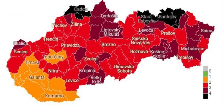 Október 18-tól öt járás már fekete besorolású lesz, a Rozsnyói továbbra is piros