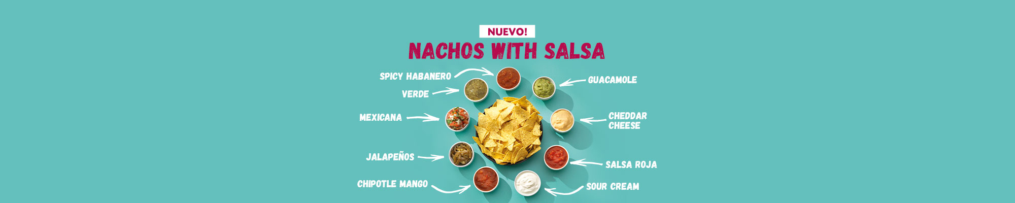 Nieuw bij Taco Mundo: Nachos with Salsas!